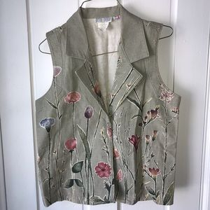 Vintage Floral Vest—Gotcha Covered